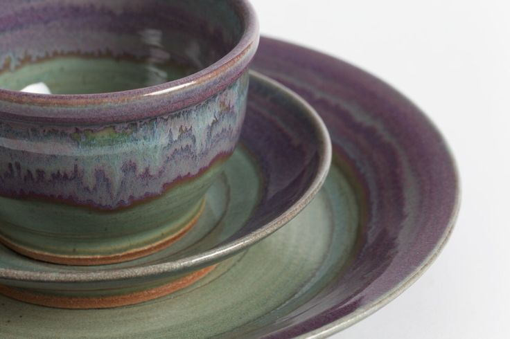 Set of three pieces. Stoneware dishes, ceramic dishes, pottery dishes, dinnerware, ceramics and pottery, dinnerware, wedding gift, place set by LivingEarthCeramics on Etsy https://www.etsy.com/listing/188856931/set-of-three-pieces-stoneware-dishes
