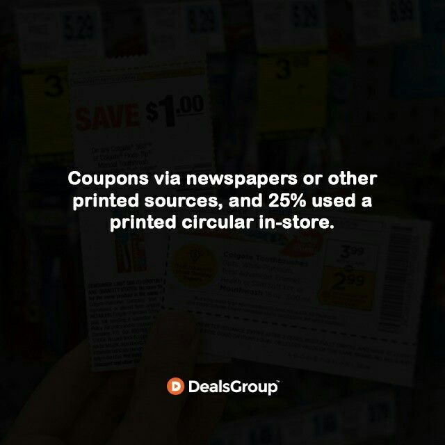 Coupons via newspapers or other printed sources, and 25% used a printed circular in-store. #HistoryofCoupons