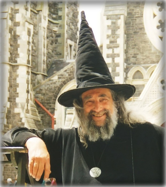 The Wizard of New Zealand (born Ian Brackenbury Channell, London).  Humourist.  He started preaching from atop a ladder in Cathedral Square, Christchurch in 1974, and in 1990 became the only person ever to be appointed Official Wizard of a country by a modern government.  He was awarded the Queen's Service Medal in the Birthday Honours list of 2009.  <3 NZ