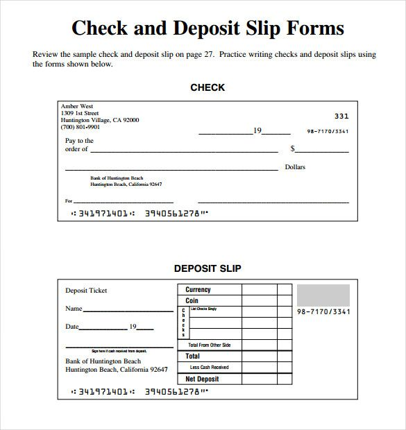 Cash Deposit Slip Templates 11 Free Docs Xlsx Pdf Free Word Document Writing Checks Words