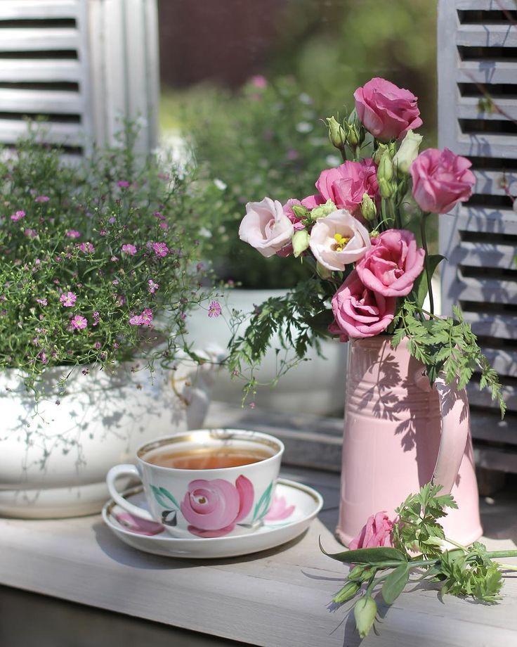 Картинки утро чай цветы