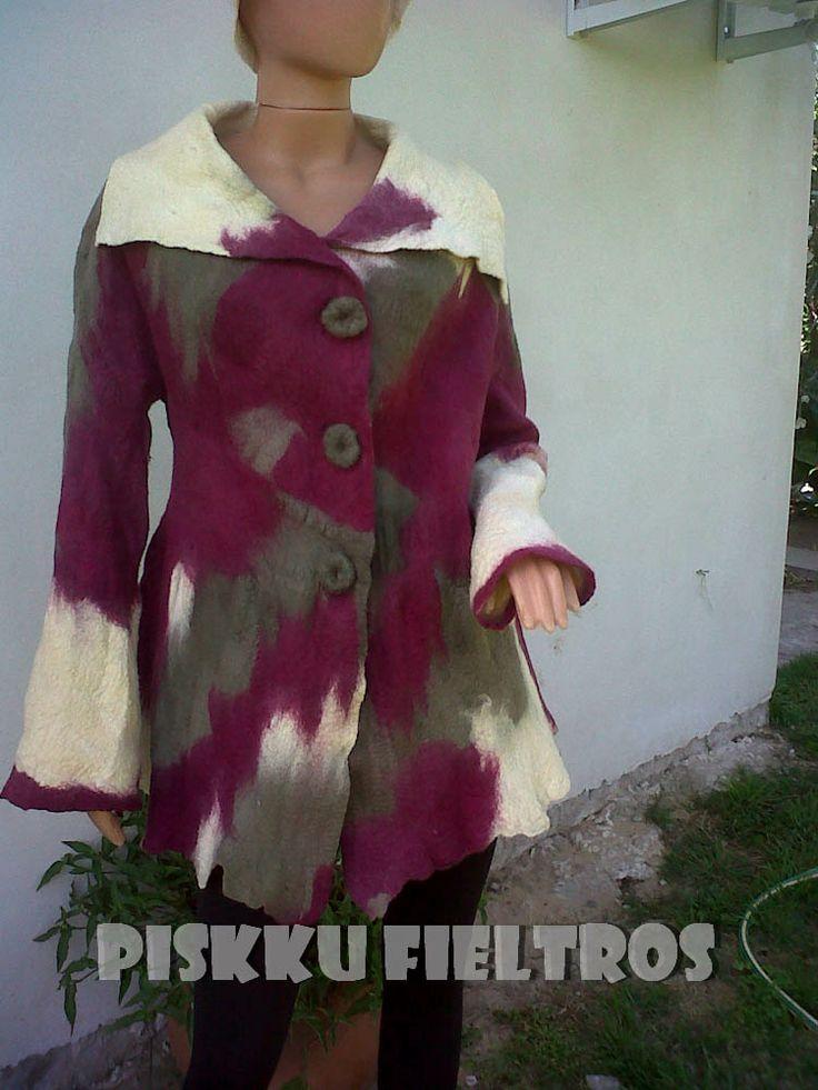 Saco en fieltro amasado lana merino
