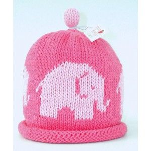 Candy Pink Elephant Knitted Hat
