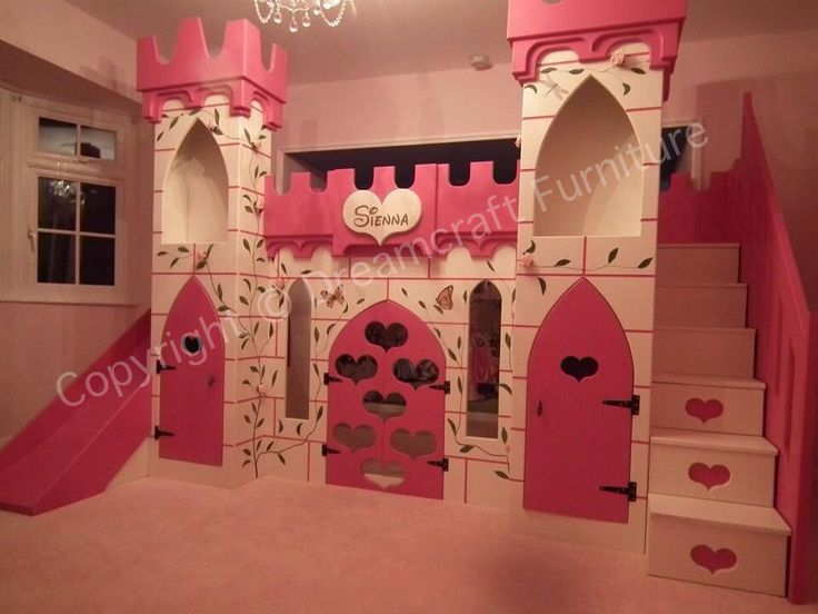 This Stunning Hand Painted Princess Castle Bed Is Every
