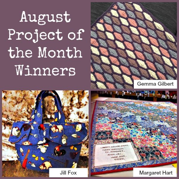August Project of the Month Challenge Winners
