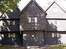 American colonial architecture includes several building design styles associated with the colonial period of the United States - Corwin House, Salem, MA circa 1660, First Period English (late-medieval).
