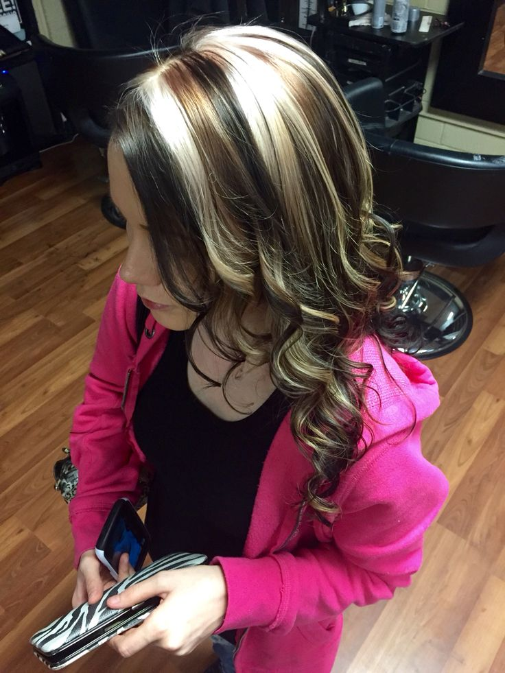 All Over Dark Brown With Blonde And Carmel Chunky