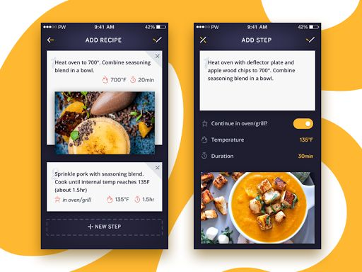 Creating Recipe app screens