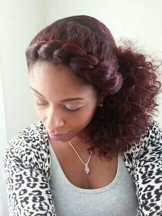 Side Flat Twist with a touch of color
