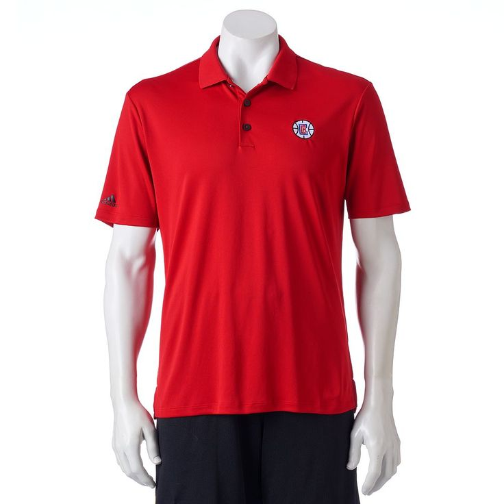 Men's Adidas Los Angeles Clippers climacool Golf Polo, Size: Medium, Multicolor