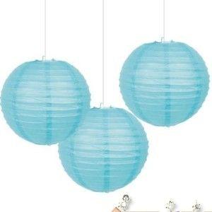 Blue Caribbean Paper Lanterns (3ct)