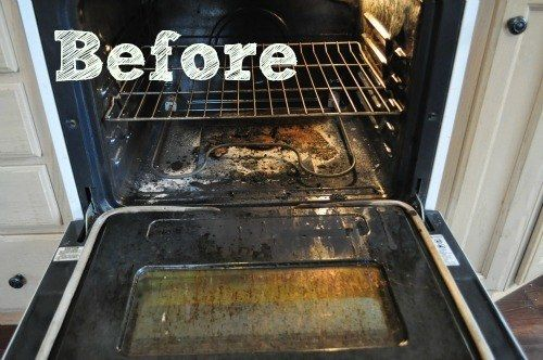 Make a spray of baking soda and water for your oven.