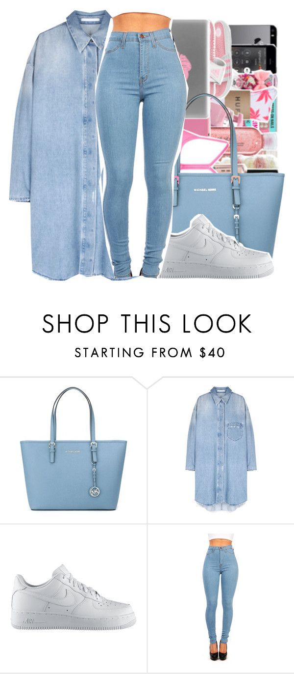 """""""Untitled #496"""" by queen-dope ❤ liked on Polyvore featuring MICHAEL Michael Kors, NIKE, women's clothing, women's fashion, women, female, woman, misses and juniors"""