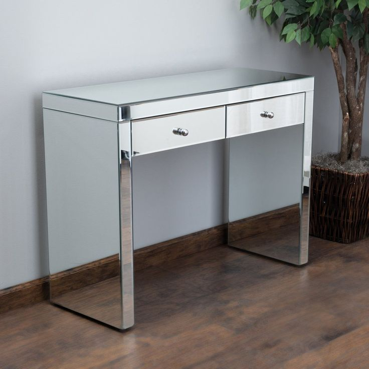 Jacinda Mirrored 2-Drawer Console Table