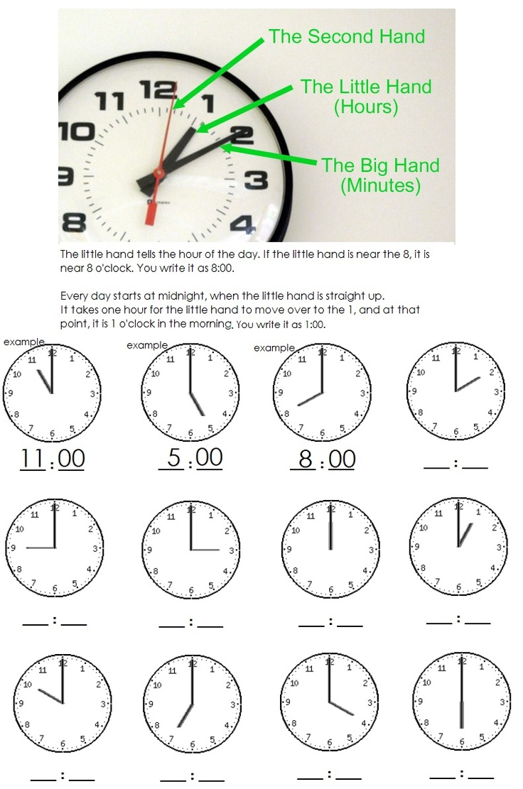 clock worksheet telling time to the hour learning is fun pinterest clock telling time. Black Bedroom Furniture Sets. Home Design Ideas