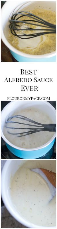 This is the best homemade Alfredo Sauce recipe you will ever taste. This Alfredo sauce is made with milk instead of cream and is a skinny alfredo sauce recipe that is packed full of flavor.