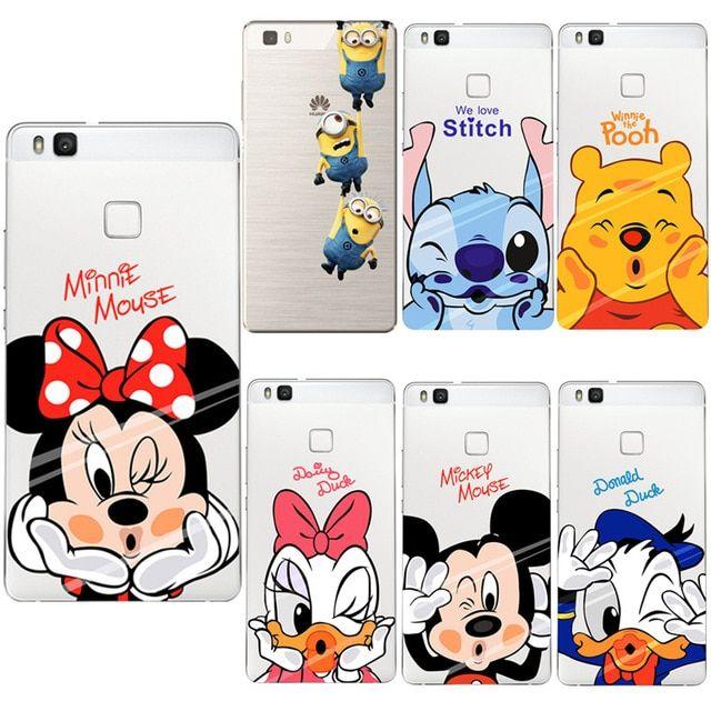 Mickey Minnie Case TPU For Huawei Mate 20 10 P8 P9 P10 P20 Lite ...