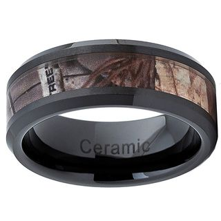 Yeah thats pretty perfect for a guy lol Black Ceramic Hunting Camo Ring (8 mm)