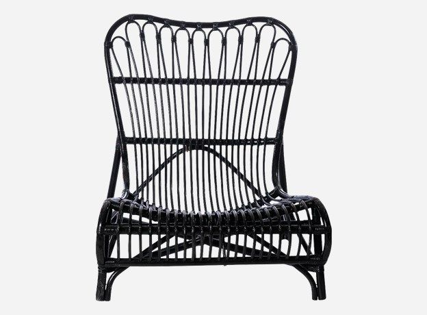 Tc0410b - Stol, Lounge, Colone, bambus, sort, Chair, Lounge, Colone, black, Bamboo, 90x55x80 cm, seating height: 35 cm