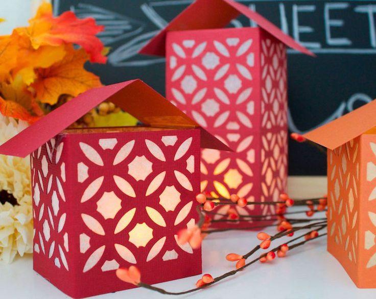 lanternes en papier à faire soi-même en tant que décoration d'automne