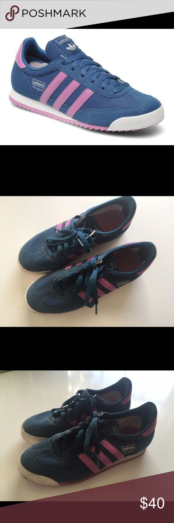 adidas Originals Dragon W size 7 adidas Originals Dragon Worn just a couple of times, like-new condition, color combo no longer available COLOR: TEAL/FUCHSIA SIZE: 7 WIDTH: B - MEDIUM Adidas Shoes Sneakers