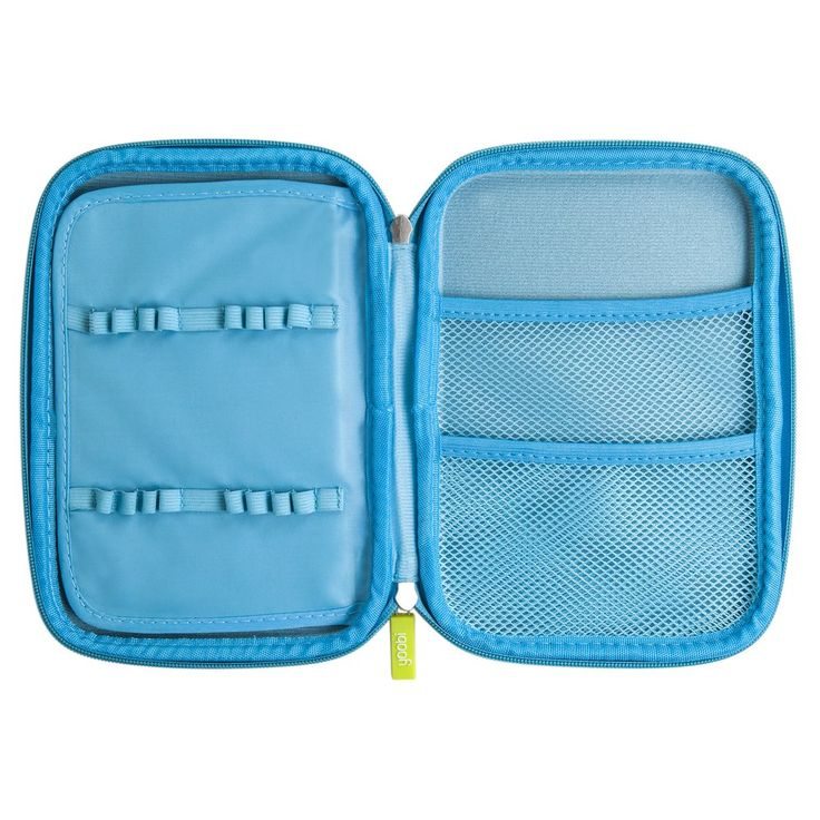 Open And Shut Case. Keep your one of a kind creative utensils handy with our molded pencil case in blue. Its hardtop outer frame prevents virtually any damage and the inside just gets better. Its got