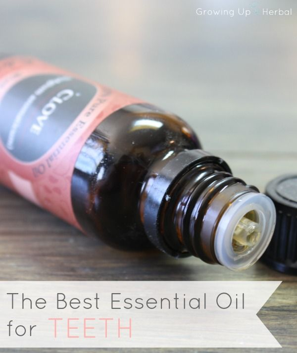 The Best Essential Oil for Teeth | GrowingUpHerbal.com | This is one of the best EOs for mouths. From pain relief to decreasing bacteria, find out more here!