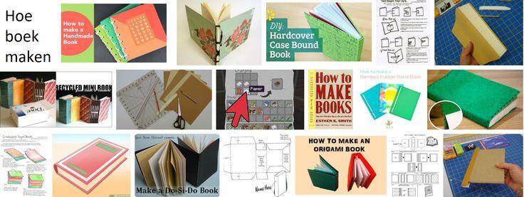Multifunctionele boekjes maken uit schoenendoos. Met papier en het karton van (schoenen)dozen (met gekleurde teksten), die je mooi genoeg vindt, kan