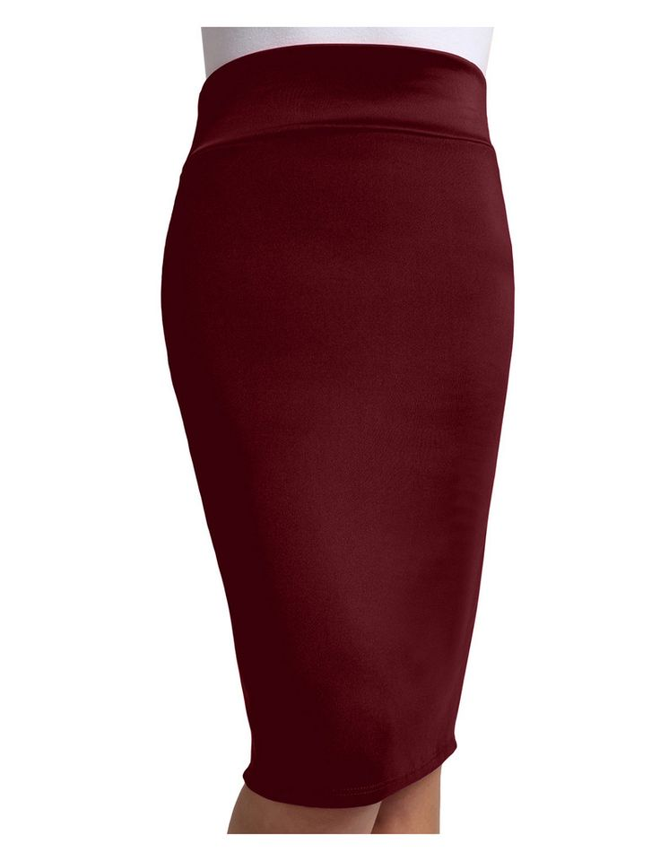 womens fitted solid high waisted midi skirt with stretch