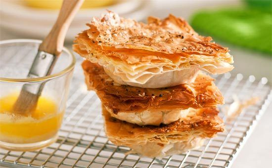Filo pastry chicken pies: Watch these fly off the table! Delicate, crisp pastry and a beaut satay-chicken filling will be snaffled in the blink of an eye.