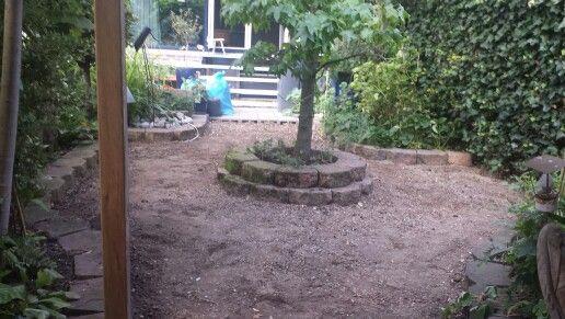 Tuin uitvlakken.