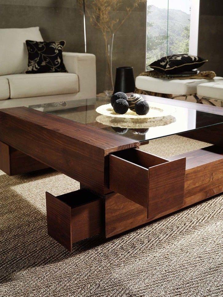 Mesa de centro mesas de centro cuadradas pinterest for Modelos de mesas cuadradas