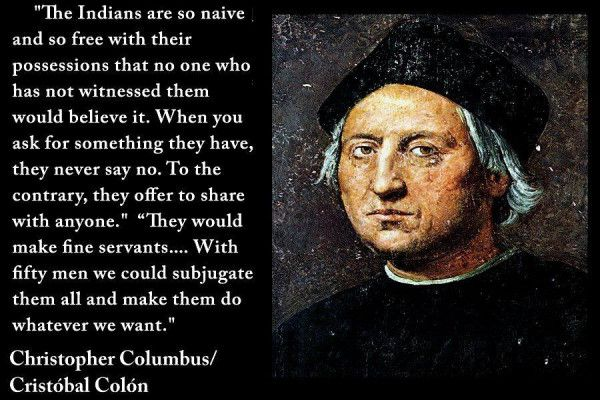 Funny Quotes About Christopher Columbus Quotesgram: QUOTE: Christopher Columbus On Natives Of The Caribbean