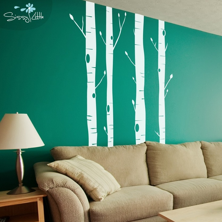 Aspen trees vinyl wall decal wall decal vinyl decals for Aspen tree wall mural