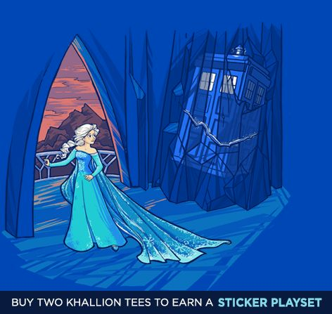 Frozen in Time and Space T-Shirt $11 Frozen Doctor Who mashup tee at TeeFury today only!