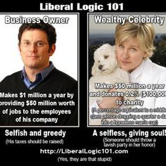 republicans, democrats, humor, funny, degeneres, tax, liberals are ruining this country