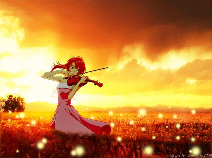 аниме картинки со скрипкой: