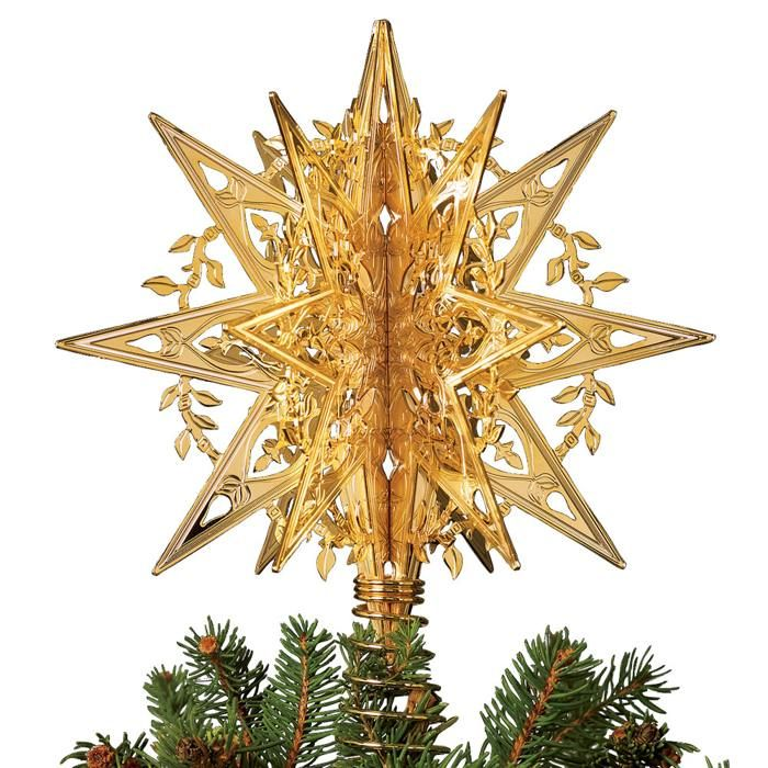 Star For Tree Part - 21: UNIQUE TREE TOPPERS TO ADD CHARM TO YOUR CHRISTMAS TREE