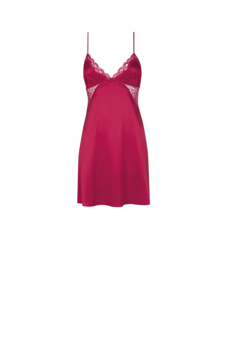 Make her Chirstmas a sexy one with this Enchanted Xmas night dress in Mars red, seductive comfort at its finest