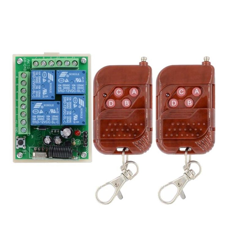 12.68$  Watch here - http://alivac.shopchina.info/go.php?t=802308702 - 315/433MHz  Remote Switch Control Wireless Light Switch  12V 4 Channels (4 Relays)1 Receiver & 2Transmitters  #buychinaproducts