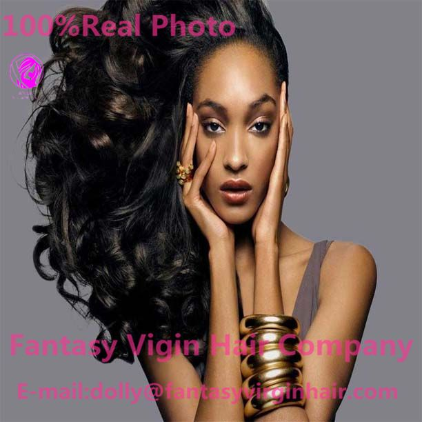 100% Brazilian Virgin Hair Weft Loose Wave Hair Extensions Weave…