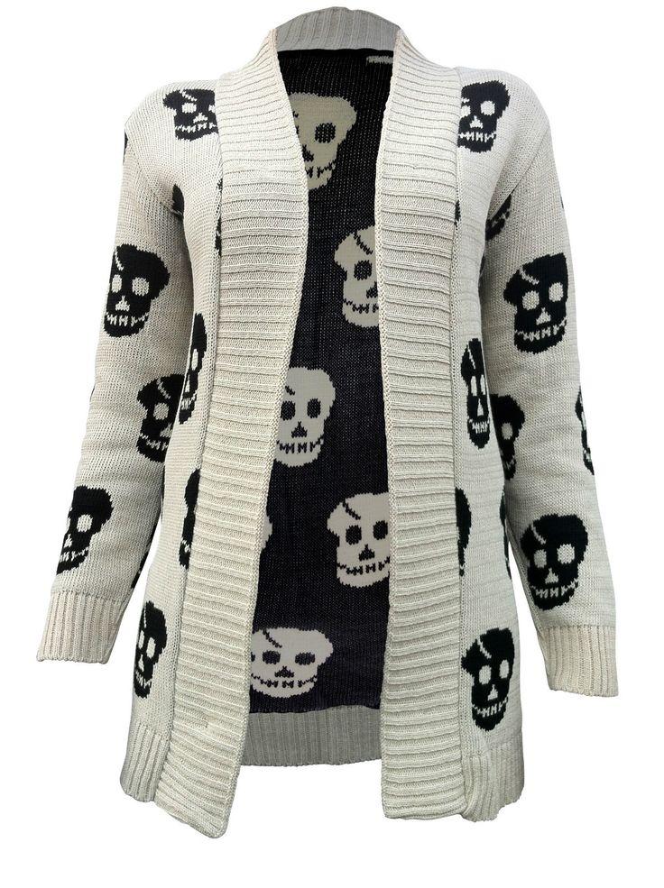 Skull knitted cardigan