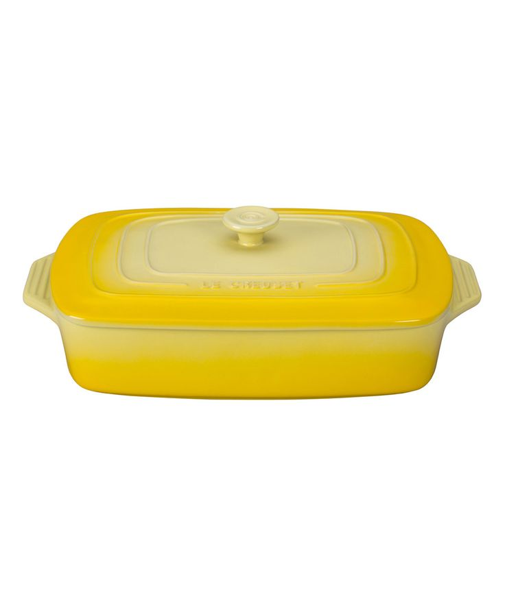 Another great find on #zulily! Soleil 3.5-Qt. Covered Rectangular Casserole Dish by Le Creuset #zulilyfinds
