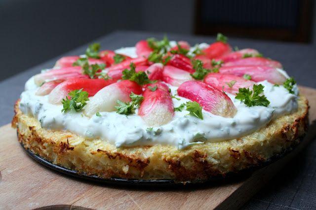 Madlaboratoriet: Blomkålstærte med persillecreme og bagte radiser
