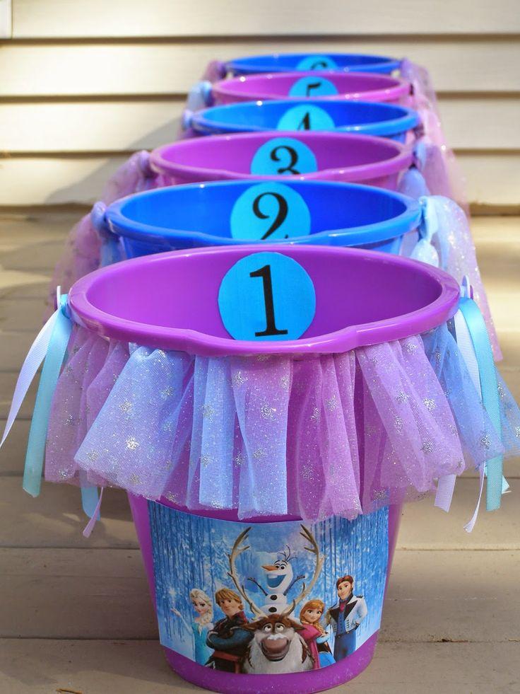 The Princess Birthday Blog: Princess Party Games: Frozen Bucket Toss…