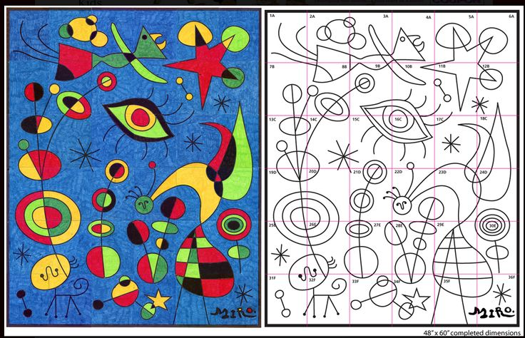 GRADE 1 Miro paintings, Art lessons, Joan miro paintings
