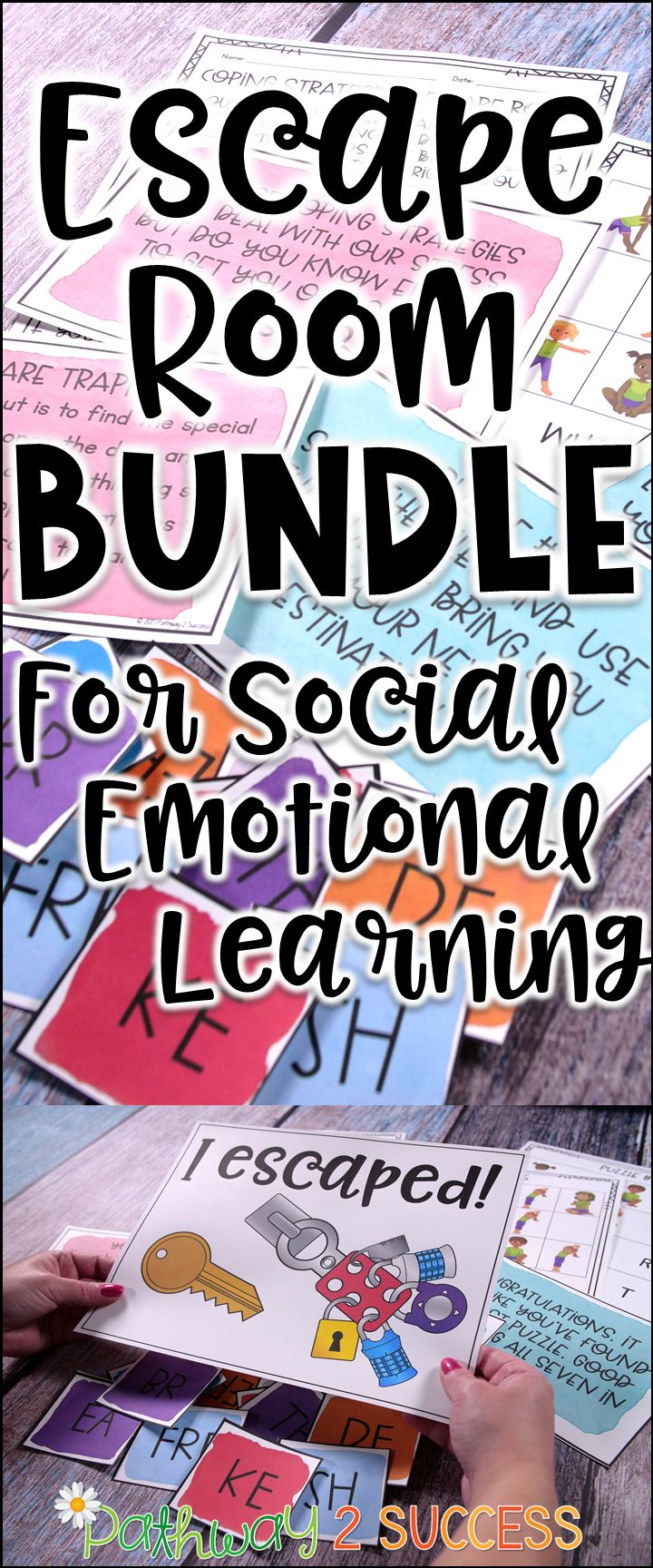 Use these escape room activities to teach conflict resolution, growth mindset, managing emotions, executive functioning skills, and coping strategies! Perfect for advisory groups, small counseling groups, resource rooms, or a full class!