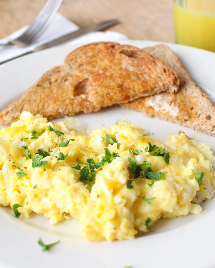Creamy & Cheesy Herbed Scrambled Eggs | Recipe | Hot ...