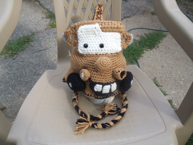 Disney Cars Tow-Mater Crochet Hat *Any Size Available*