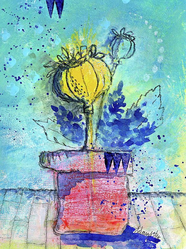 Poppy Print featuring the painting Poppies 3 by Tonya Doughty